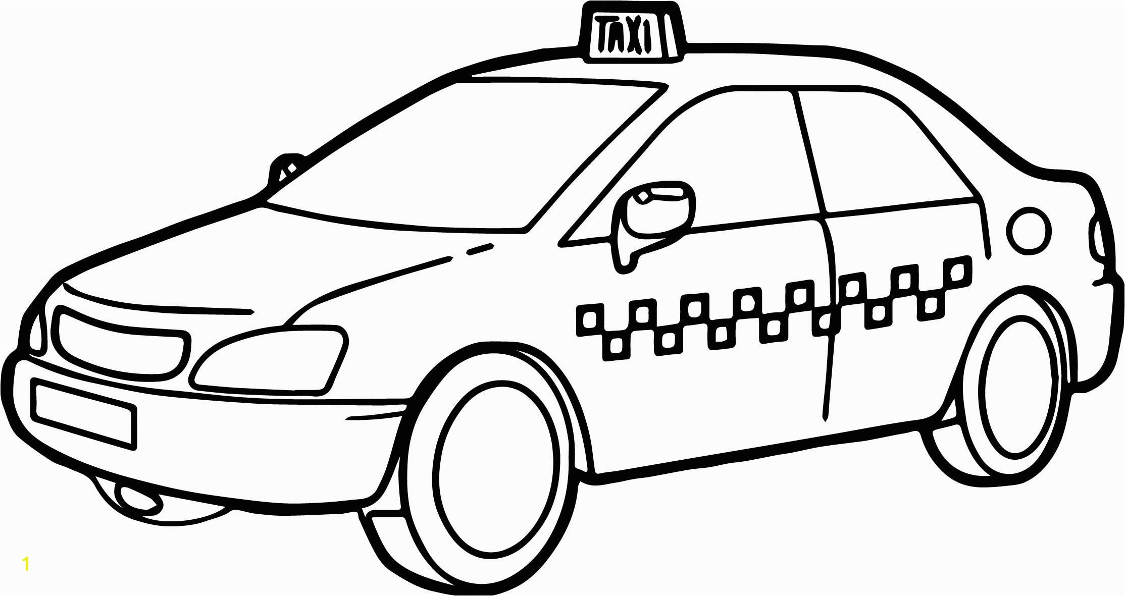 awesome Taxi Driver Car Fast Coloring Page