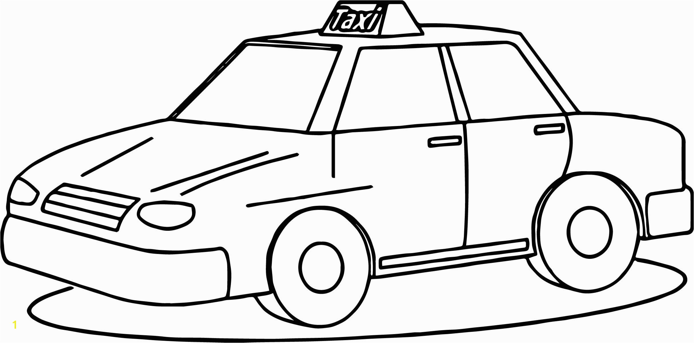 awesome Taxi Driver Fine Car Coloring Page