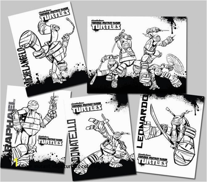 Printable Teenage Mutant Ninja Turtles Coloring Pages Intended for