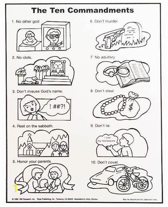 Ten Commandments Coloring Pages Catholic Ten Mandments Wall Chart Sunday School Pinterest