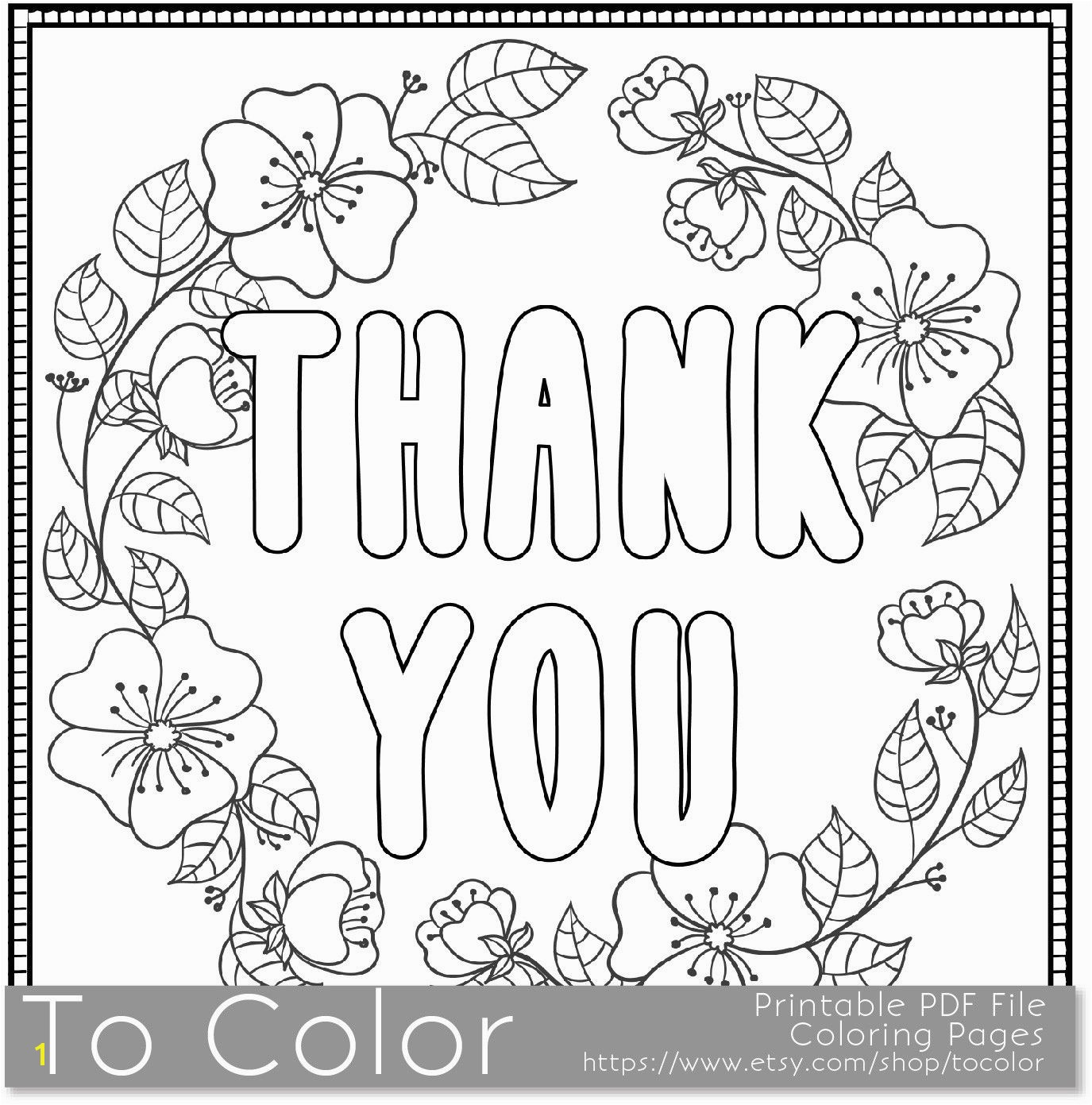 Thank You Coloring Sheets Elegant Thank You Coloring Page For Grown Ups This Is A Printable