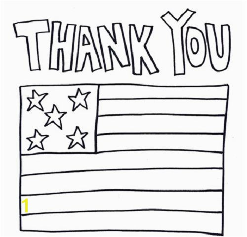 Thank You Coloring Page Thank You Military Coloring Pages