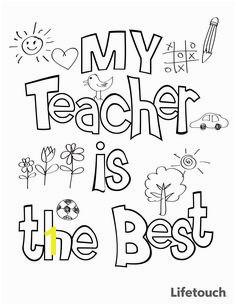 Teacher Appreciation Coloring Sheet