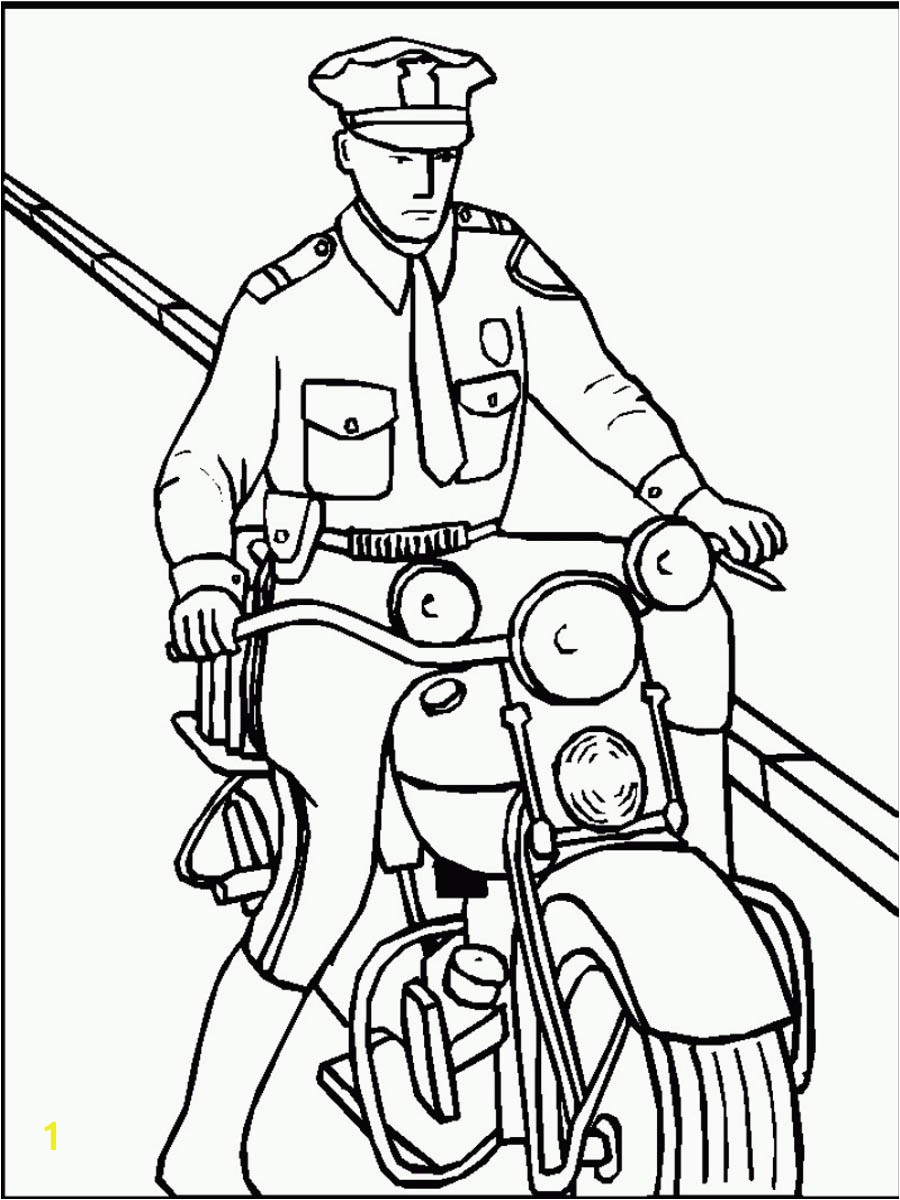 Thank You Police Officer Coloring Page Policeman Drawing at Getdrawings
