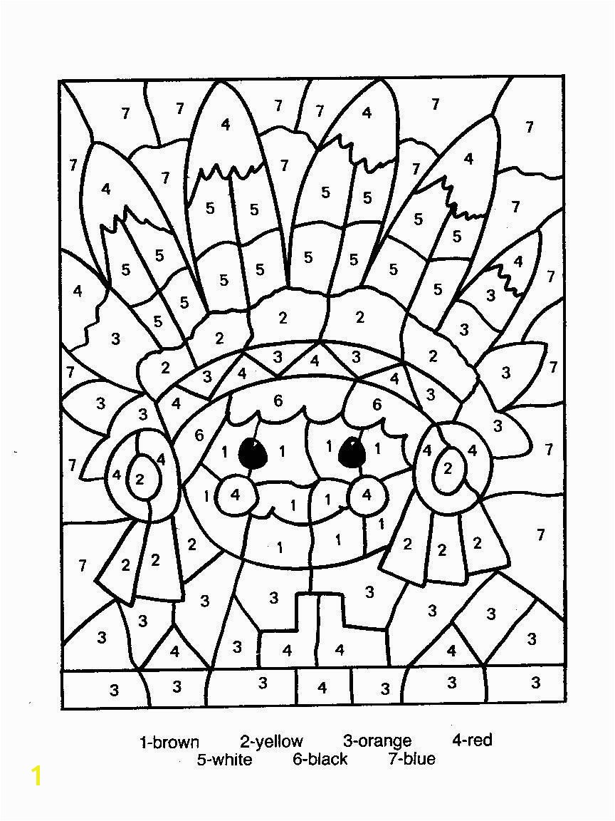 Color by Numbers Page Print your free Color by Numbers page at AllKidsNetwork