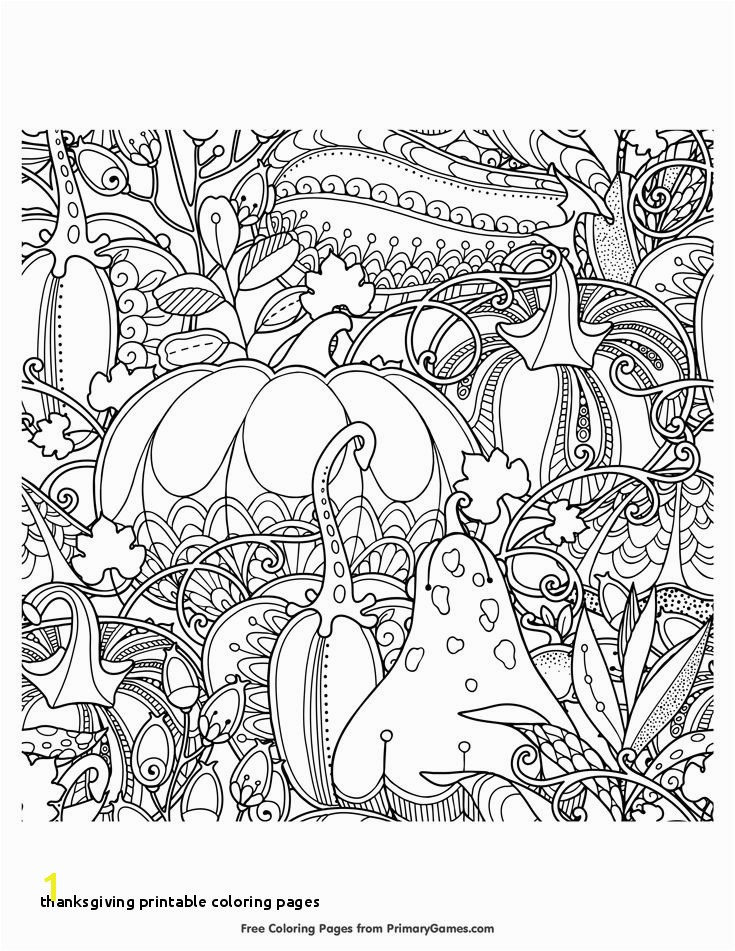 27 Thanksgiving Printable Coloring Pages