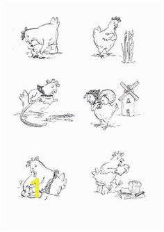 Little Red Hen black and white images free