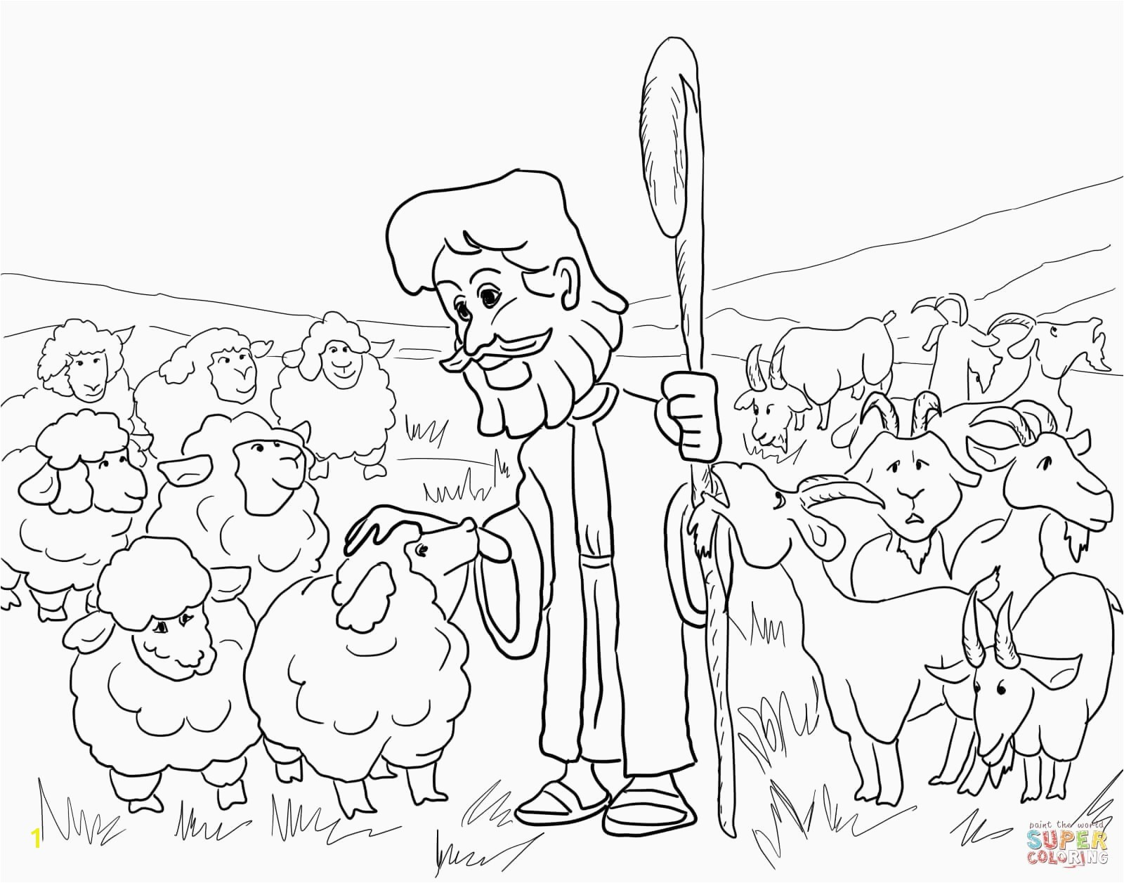 Jesus and the Lost Sheep Coloring Page Lost Sheep Coloring Page Best the Lost Sheep Free