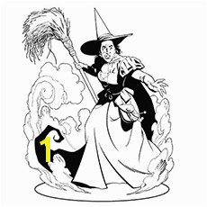 Wicked Witch The East Coloring Pages