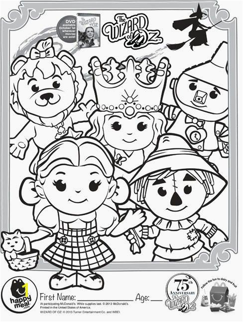 Wizard of Oz mercial and to coloring pages and activity