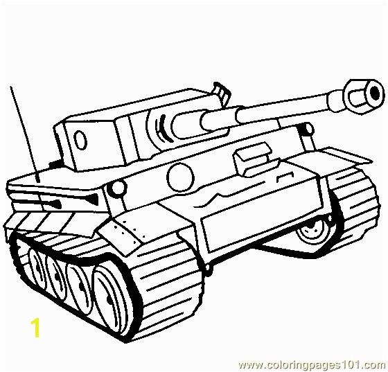 Panzer Tiger Tank Coloring Page