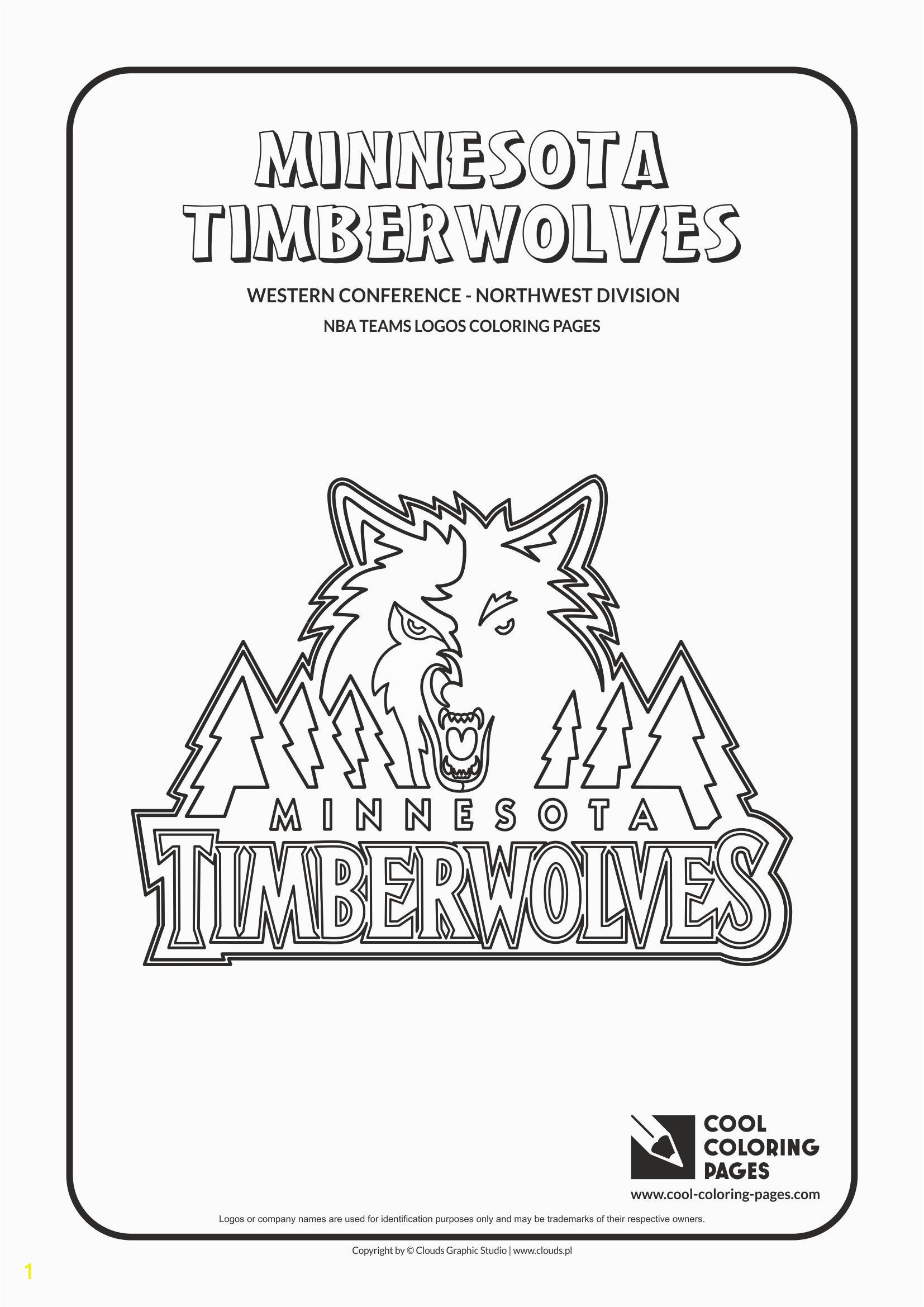 Cool Coloring Page Fresh Bonanza Timberwolves Coloring Pages Cool Minne 8622 Unknown