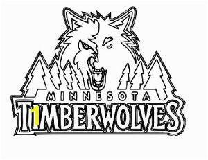 Minnesota Timberwolves Free Logo Coloring Page Minnesota Timberwolves Free Logo Coloring Page