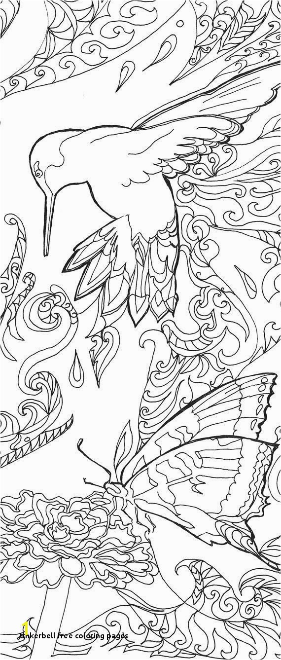 25 Tinkerbell Free Coloring Pages