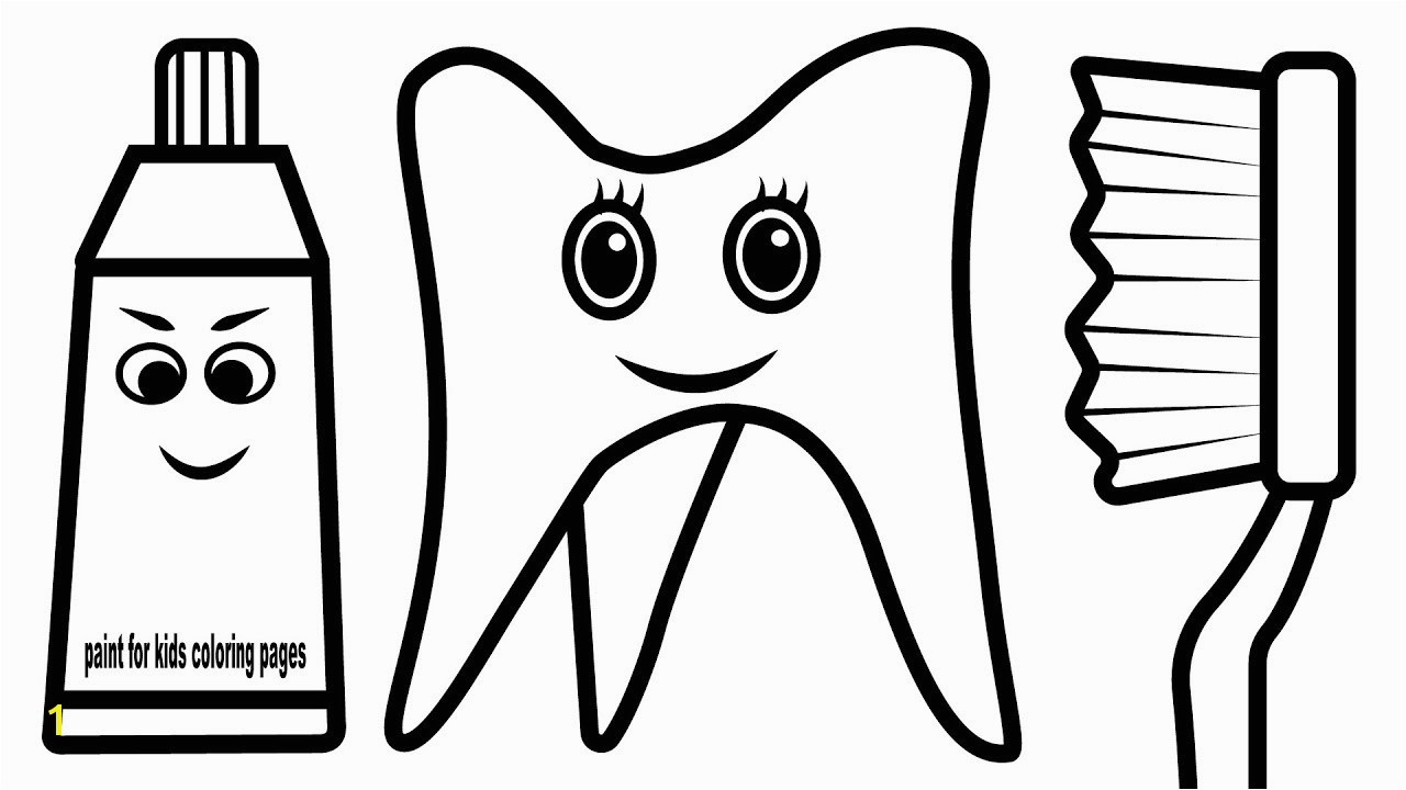 Improved Toothbrush And Toothpaste Coloring Page Pages For Baby Colouring Book
