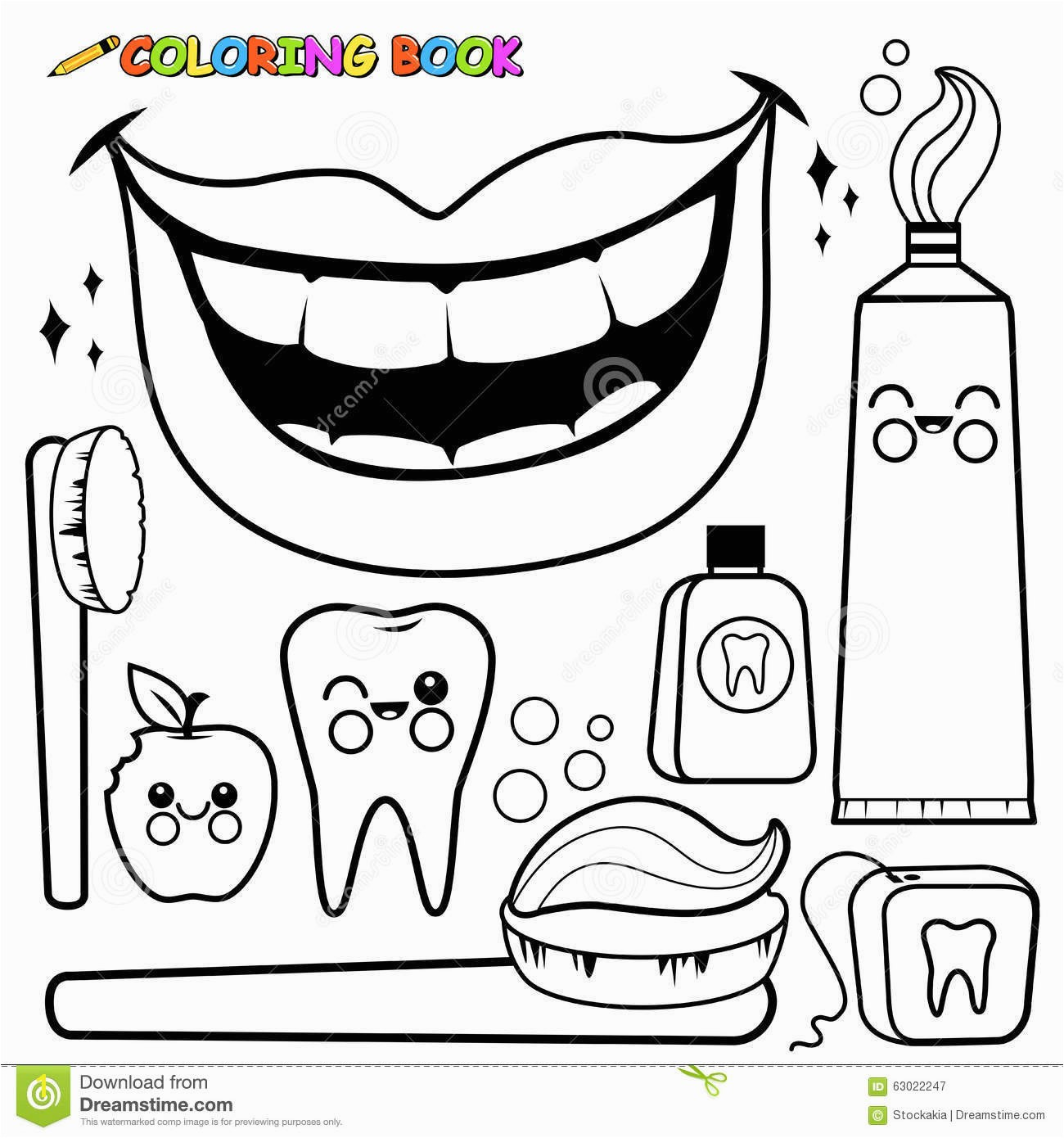 Opportunities Braces Coloring Pages Dentist And Kid Dental Page Dinosaur Teeth