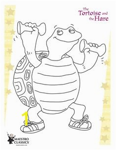 Free printable coloring page from The Tortoise and the Hare
