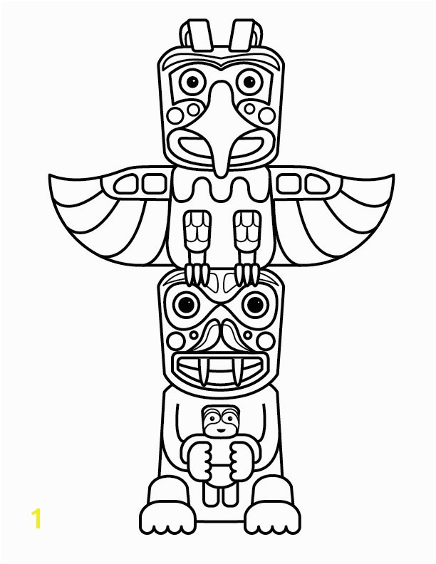 Totem Pole Coloring Pages Free Printable Totem Pole Coloring Pages For Kids