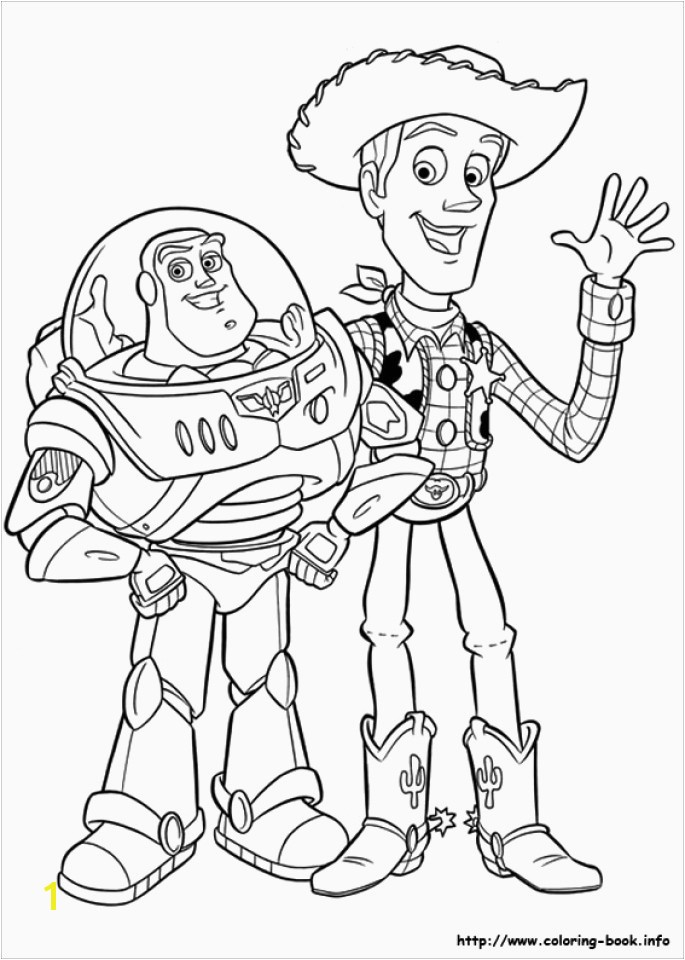 Od Coloring Fun Na Toy Story 1 Coloring Pages Best toy Story Sheriff Woody and Buzz Lightyear Coloring Page