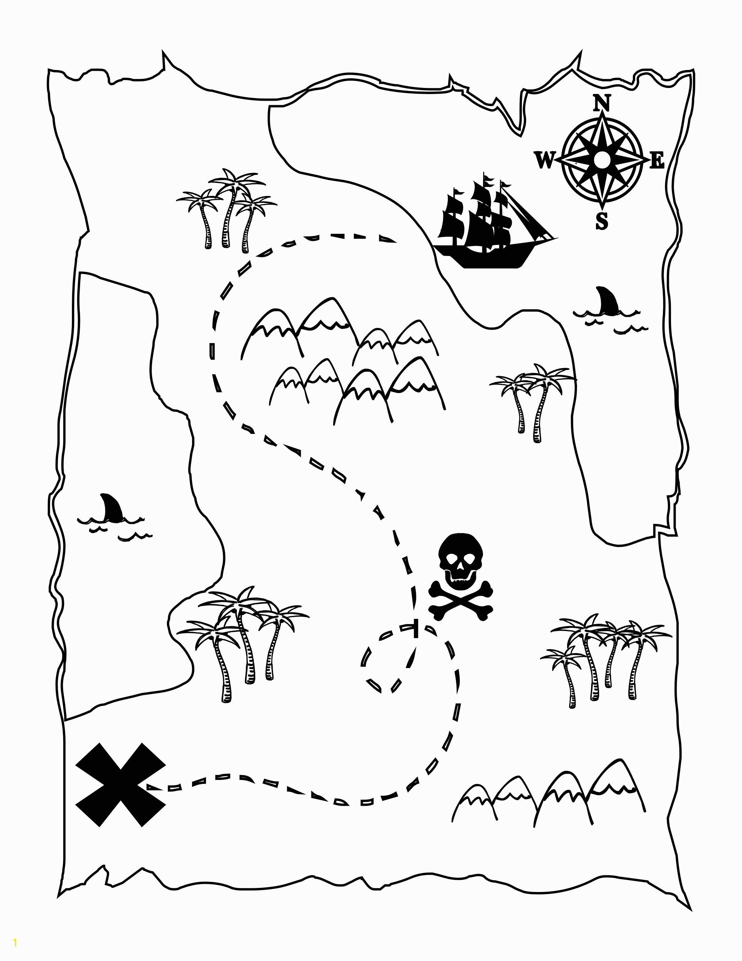 FREE Printable Pirate Map a fun coloring page for the kids lilluna