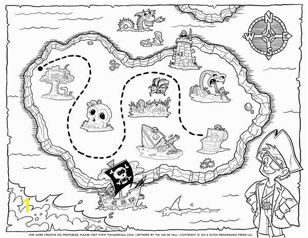 Treasure Map Coloring Pages Pirate Treasure Map Coloring Pages Printables Pinterest