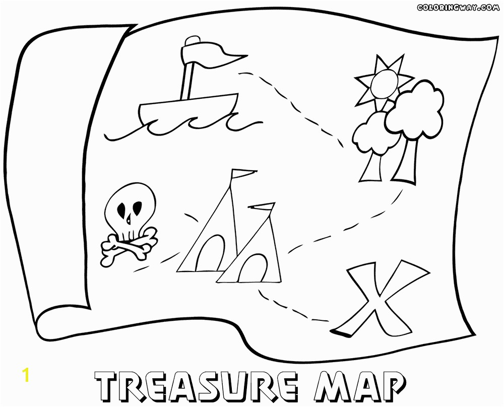 1000x808 Treasure map coloring pages Coloring pages to and print