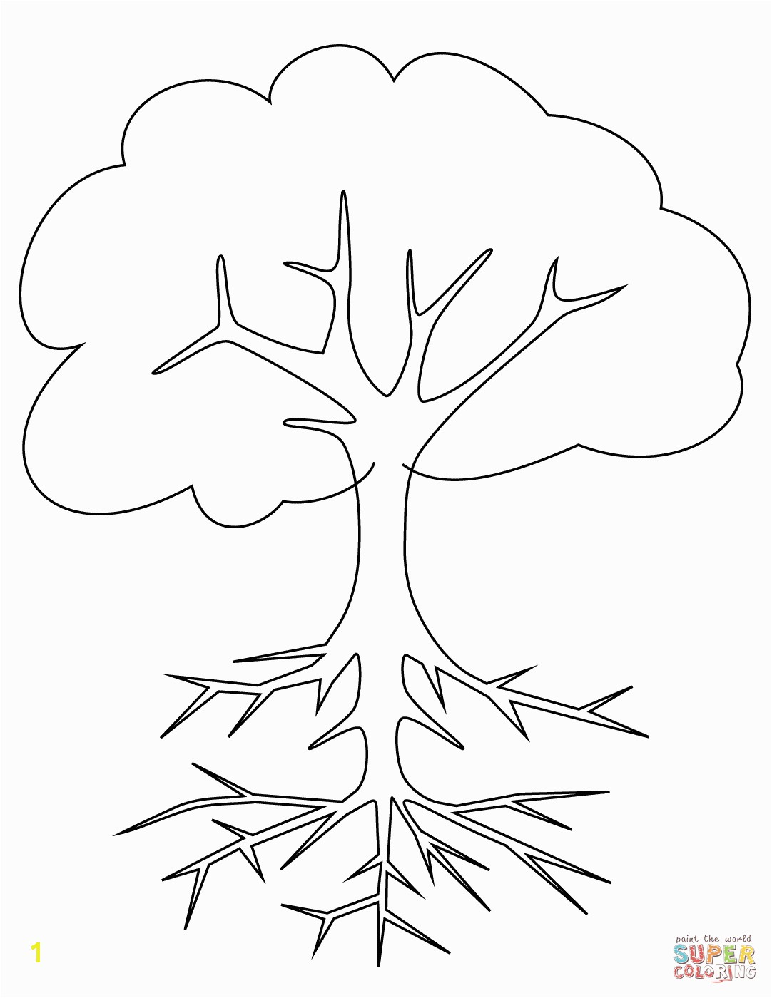 the Tree with Roots coloring pages