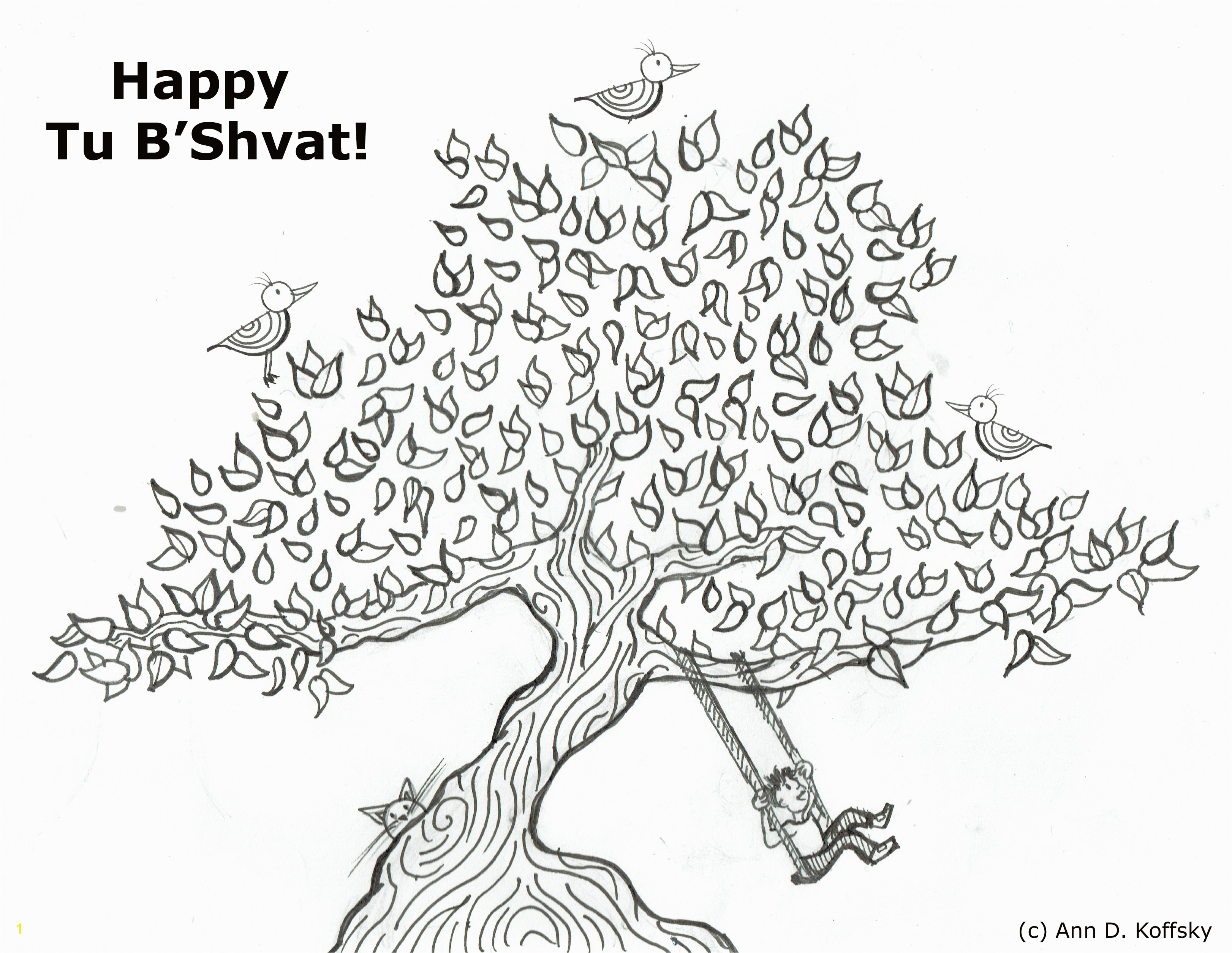 Unique Tu B Shevat Coloring Pages