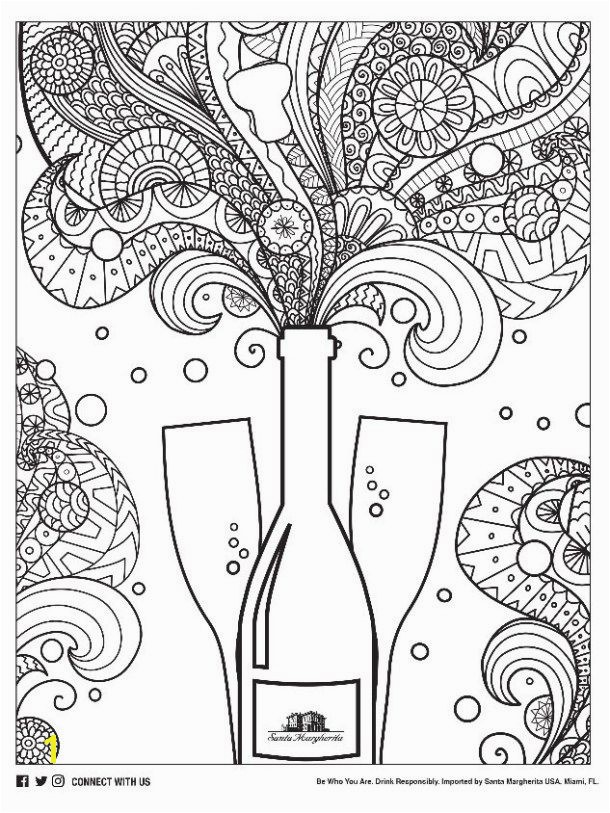 Free Adult Coloring Pages Inspired by Wine