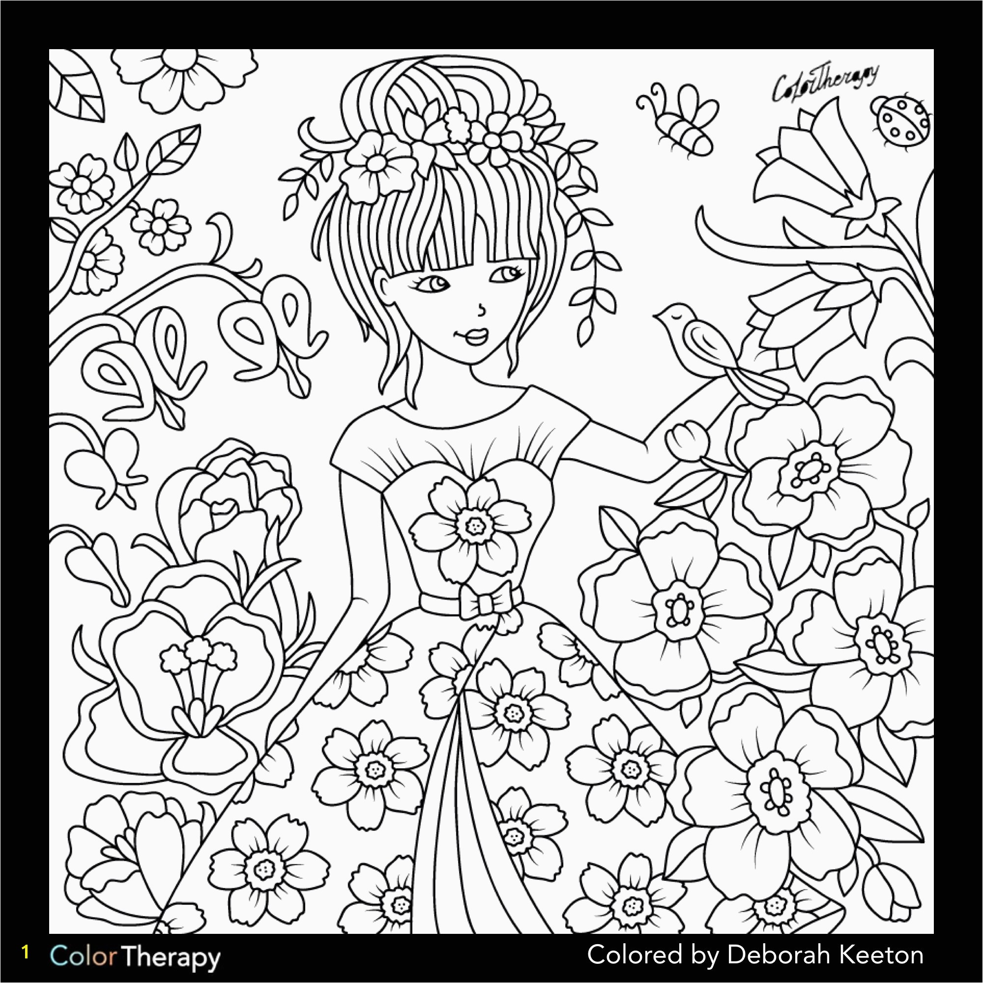 How To Make A Coloring Book Page In shop Color Book Pages Beautiful Girl In Floral