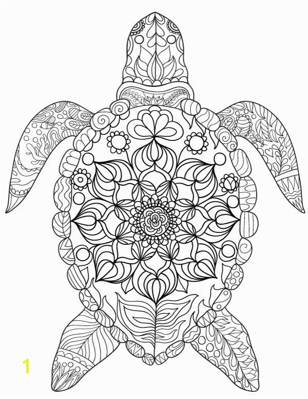 Free printable sea turtle adult coloring page Download it in PDF format at turtle coloring page