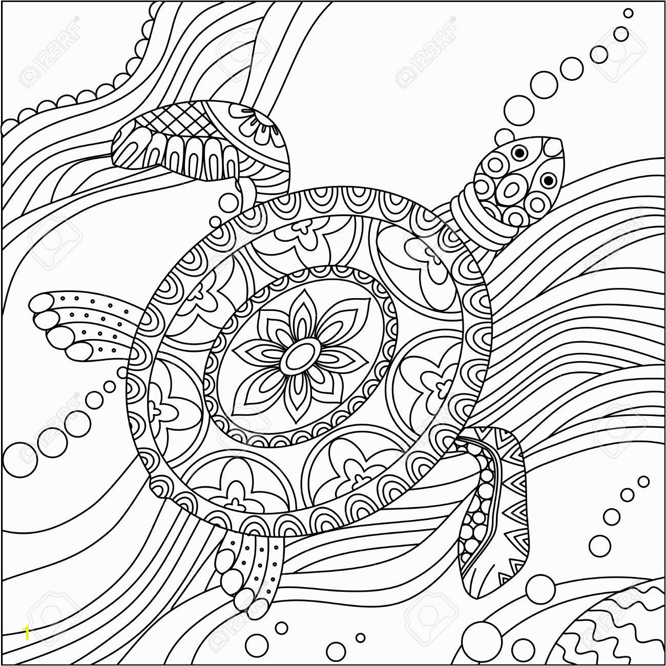 Turtle Mandala Coloring Pages Printable Turtle Coloring Pages for Adults Turtles Coloring Pages Free New Sea