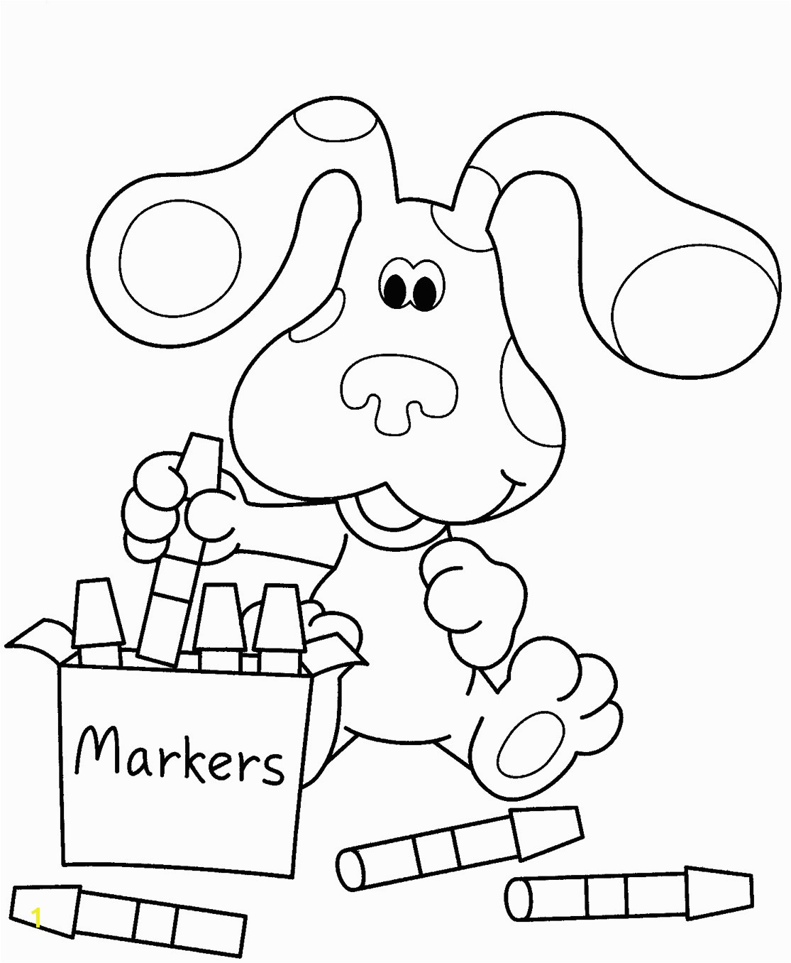 Christmas Coloring Books for Kids New Blues Clues Coloring Pages to Print Coloringstar Pics