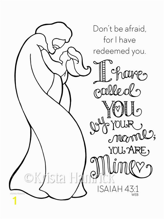 I Have Called You By Name Girl coloring page 8 5X11 Bible journaling tip in 6X8