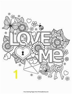 Valentine s Day Coloring Pages eBook Love Me