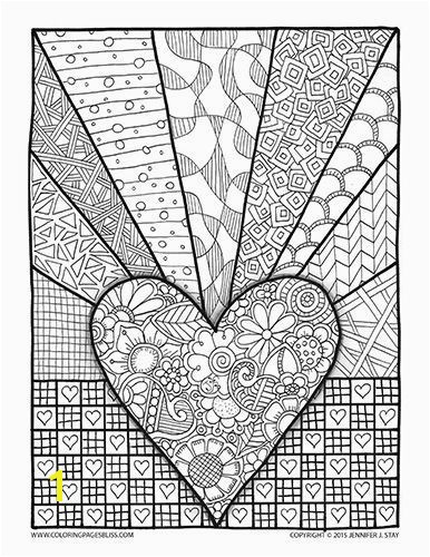 Coloring Page Valentines Day Abstract Doodle Zentangle Paisley Coloring pages colouring adult detailed advanced printable Kleuren voor volwassenen coloriage