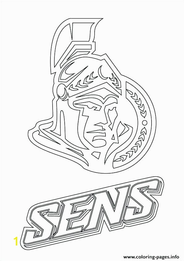 coloring Print Senators Logo Hockey Sport Coloring Pages Vancouver Canucks Colouring Page