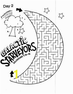 Galactic Starveyors Coloring Sheet VBS 2017 day 2