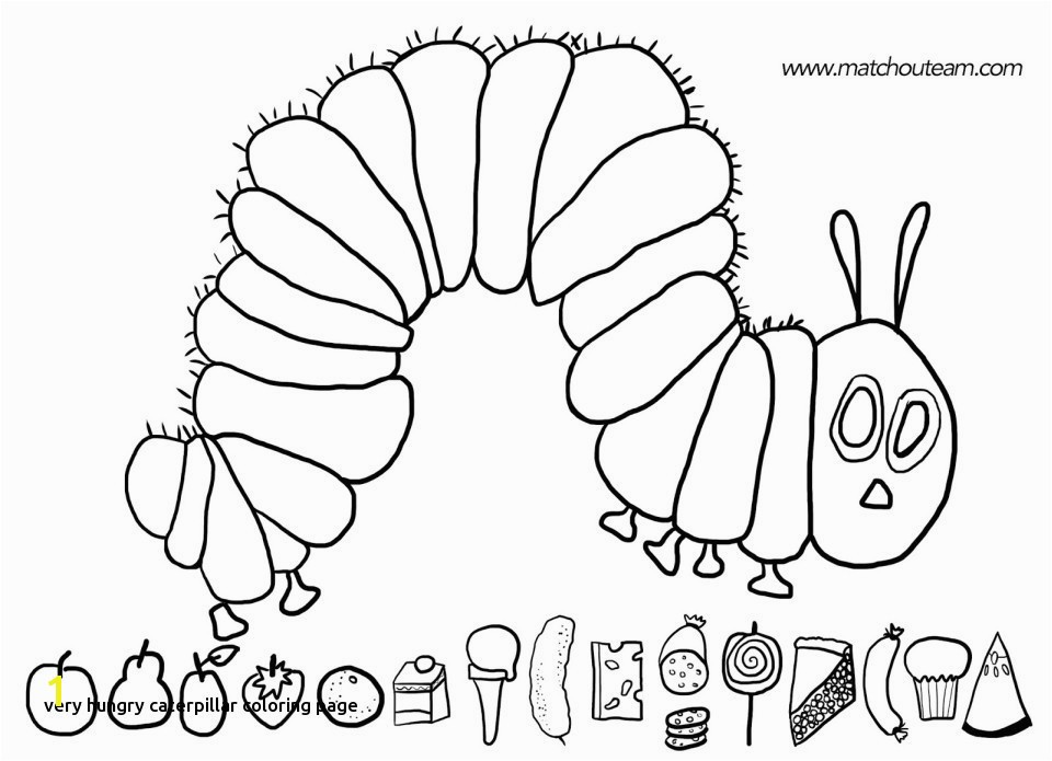Hungry Caterpillar Coloring Pages Caterpillar Coloring Page Lovely Very Hungry Caterpillar Activities