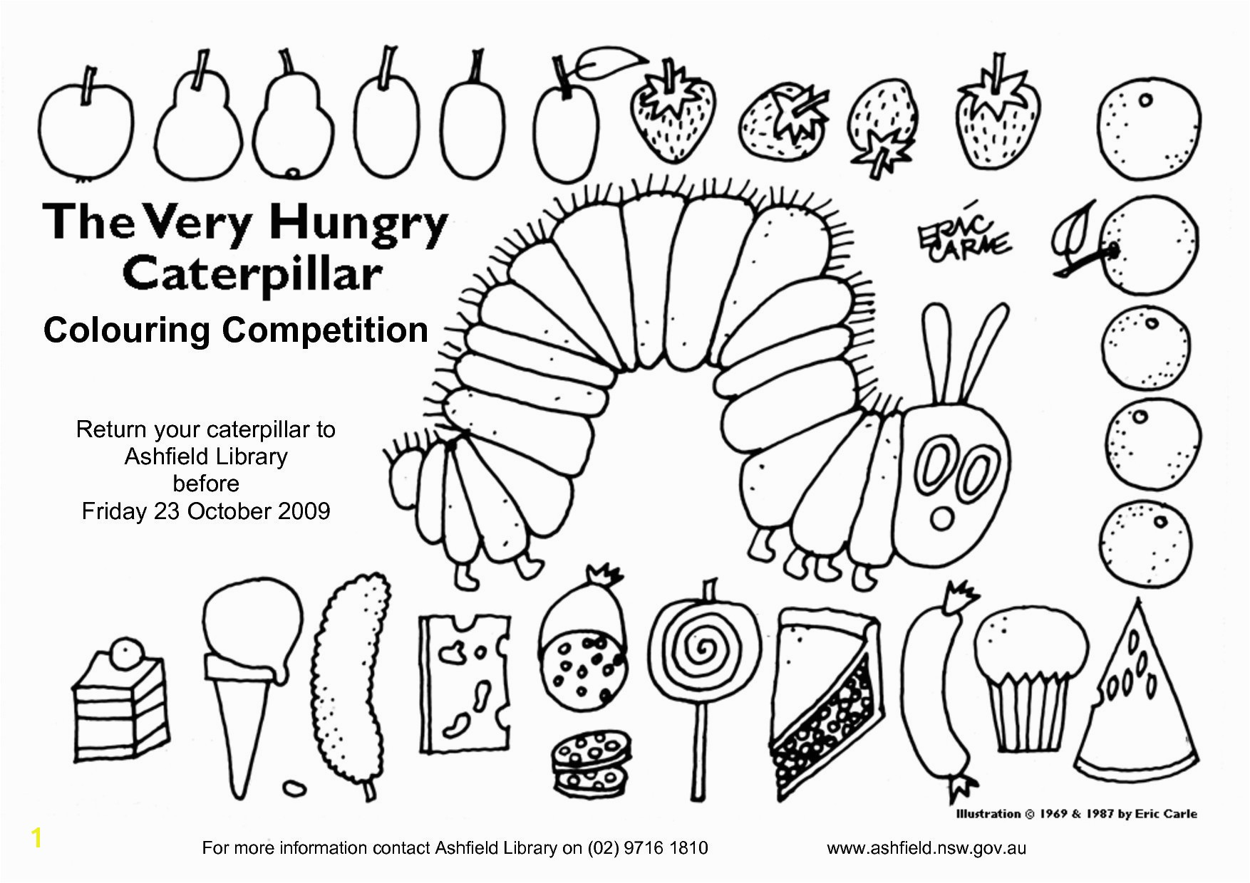 Hungry Caterpillar Coloring Pages Very Hungry Caterpillar Coloring Pages Heathermarxgallery
