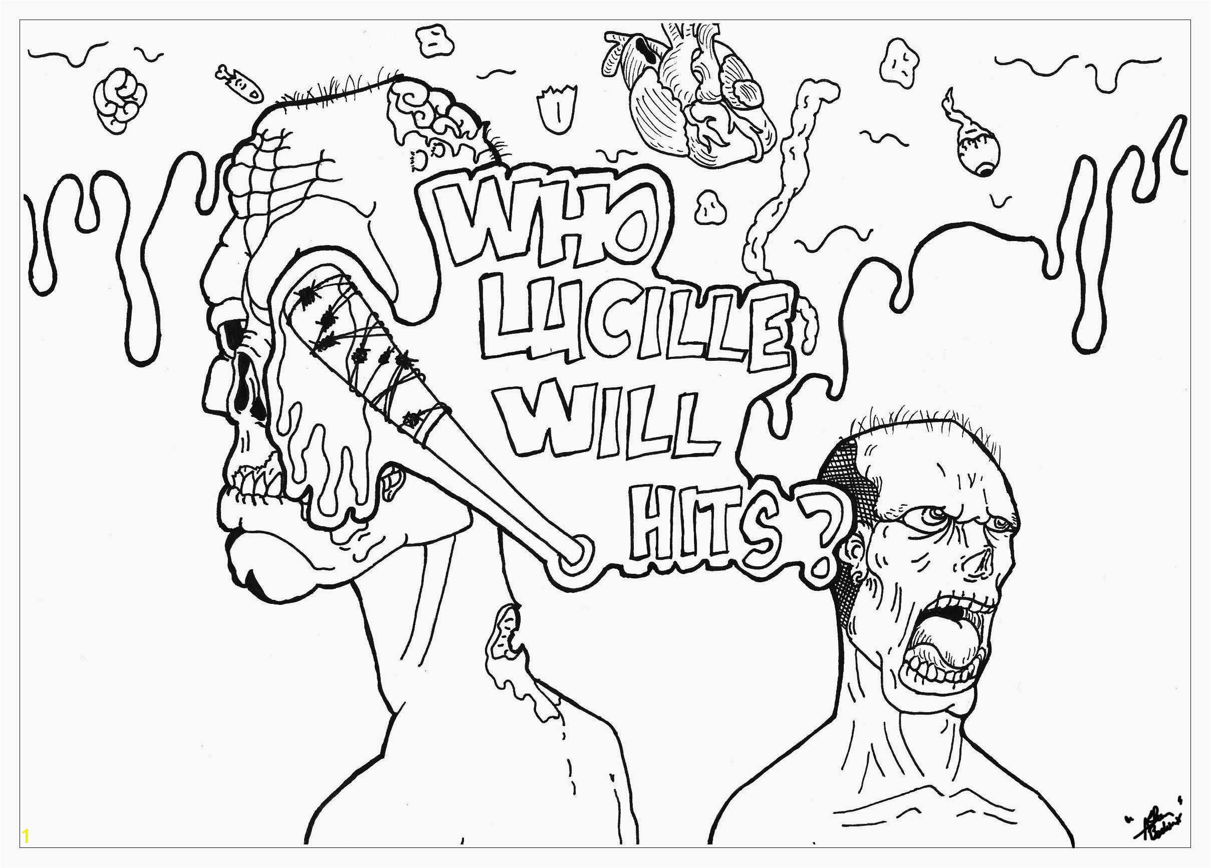 Walking Dead Zombie Coloring Pages Screaming Death Coloring Pages 48 Awesome Bible Coloring Pages for