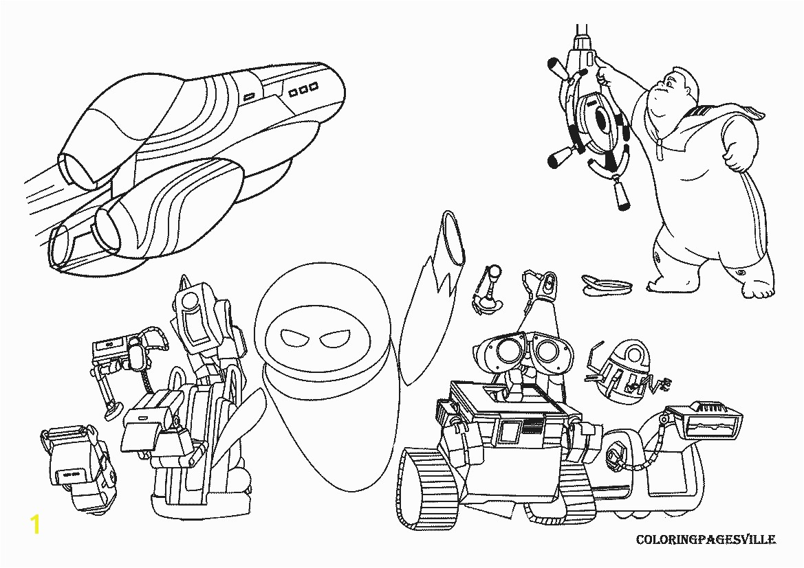 WALL E Coloring Pages In Wall Childlife Me Inside