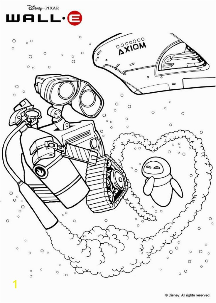Wall E and Eve Coloring Pages Wall E Coloring Pages 20 Best Illustrations Pinterest