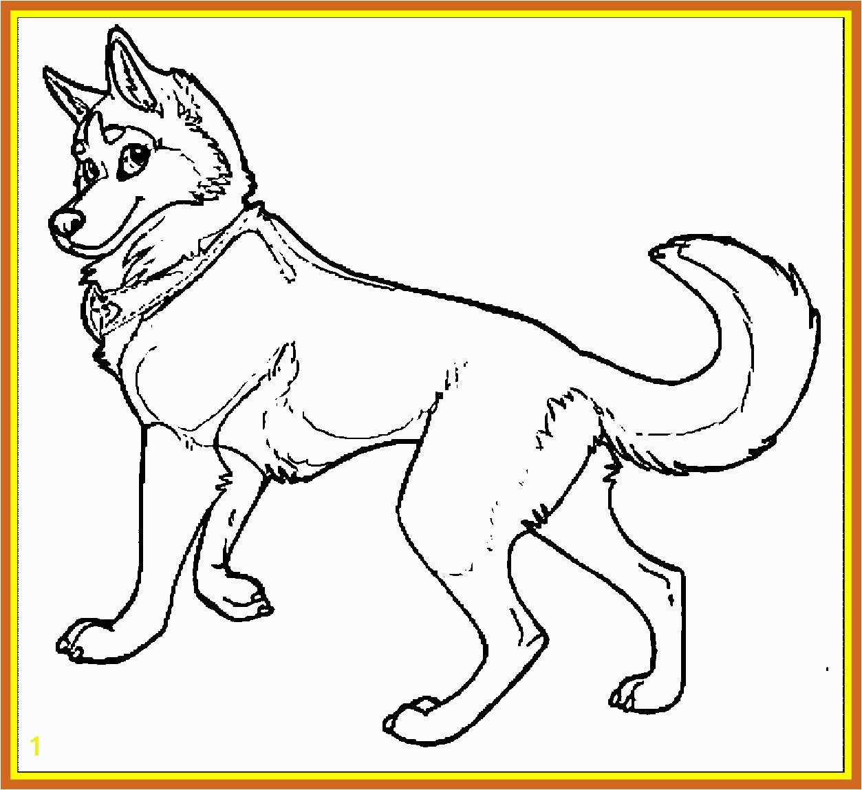 Picture Husky Coloring Page With Awesome Brilliance Wecoloringpage Pics For Dog And Ideas Trend