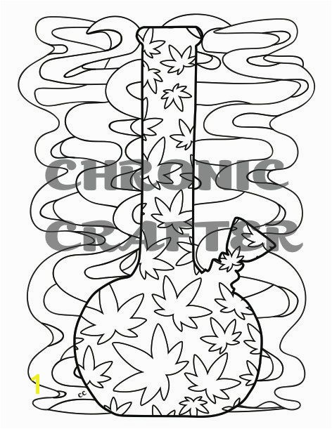 Coloring is the perfect activity when youre high So grab this digital of my leaf covered bong print it off on standard