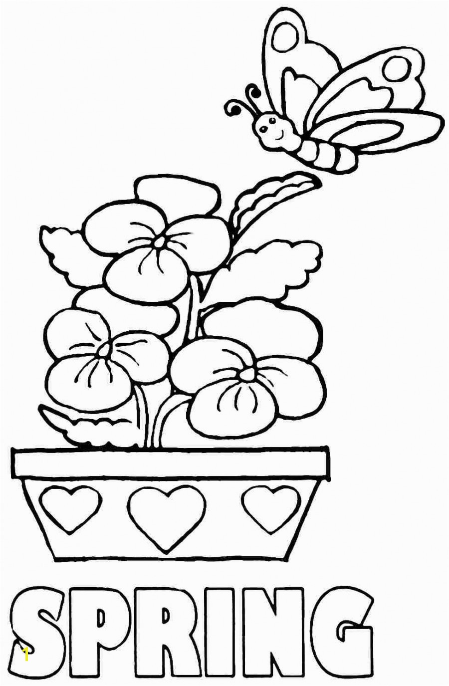 Simple Color Sheets For Spring Sampler Growth Coloring Pages Preschoolers
