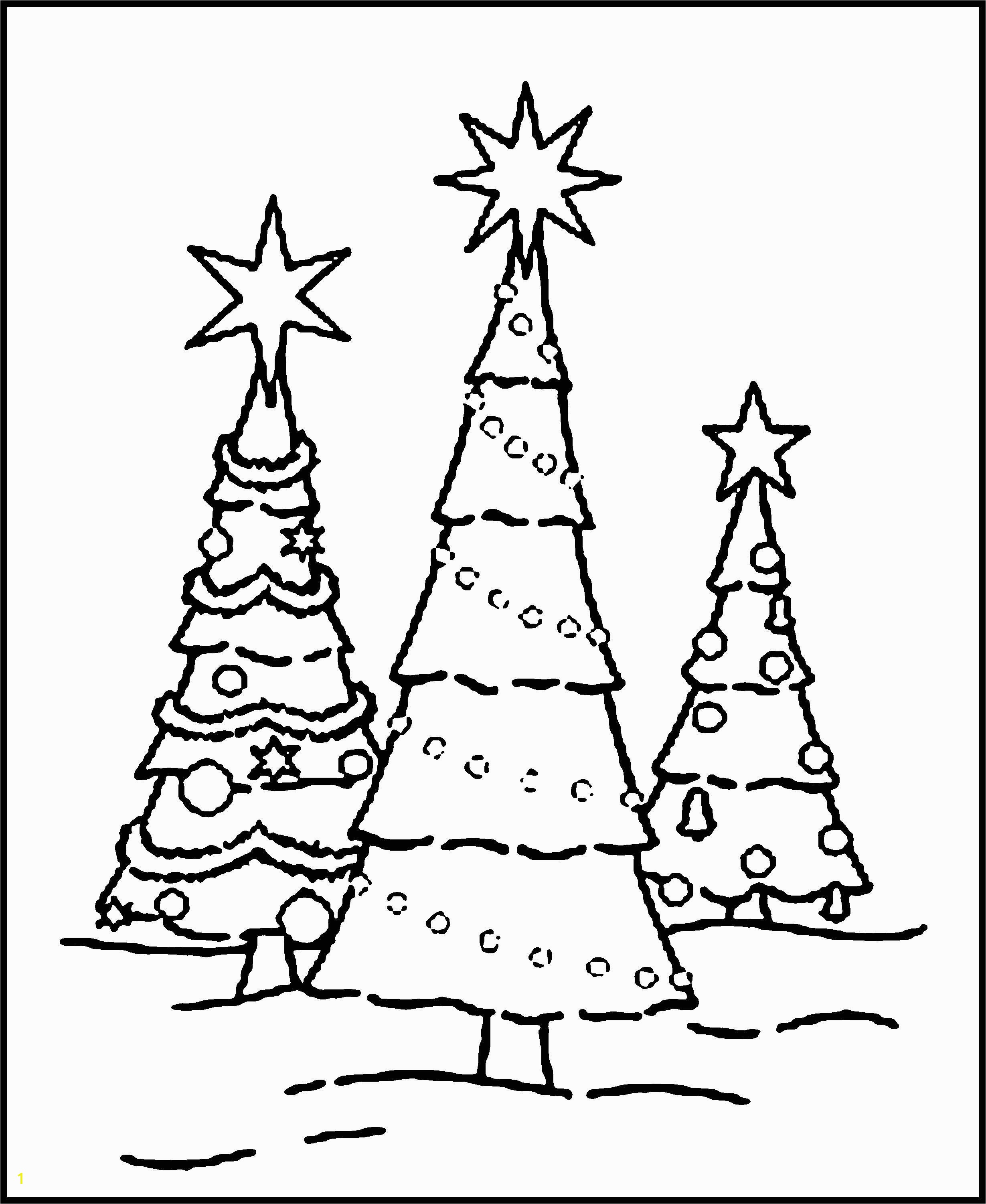 Pine Tree Coloring Pages Skinny Christmas Tree Coloring Page