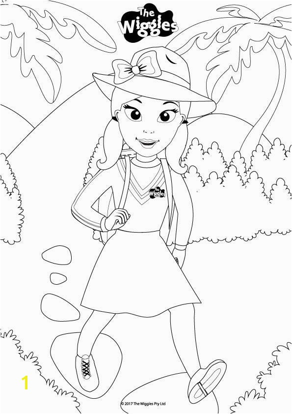 Wiggles Coloring Pages the Wiggles Activity Color Emma the Explorer