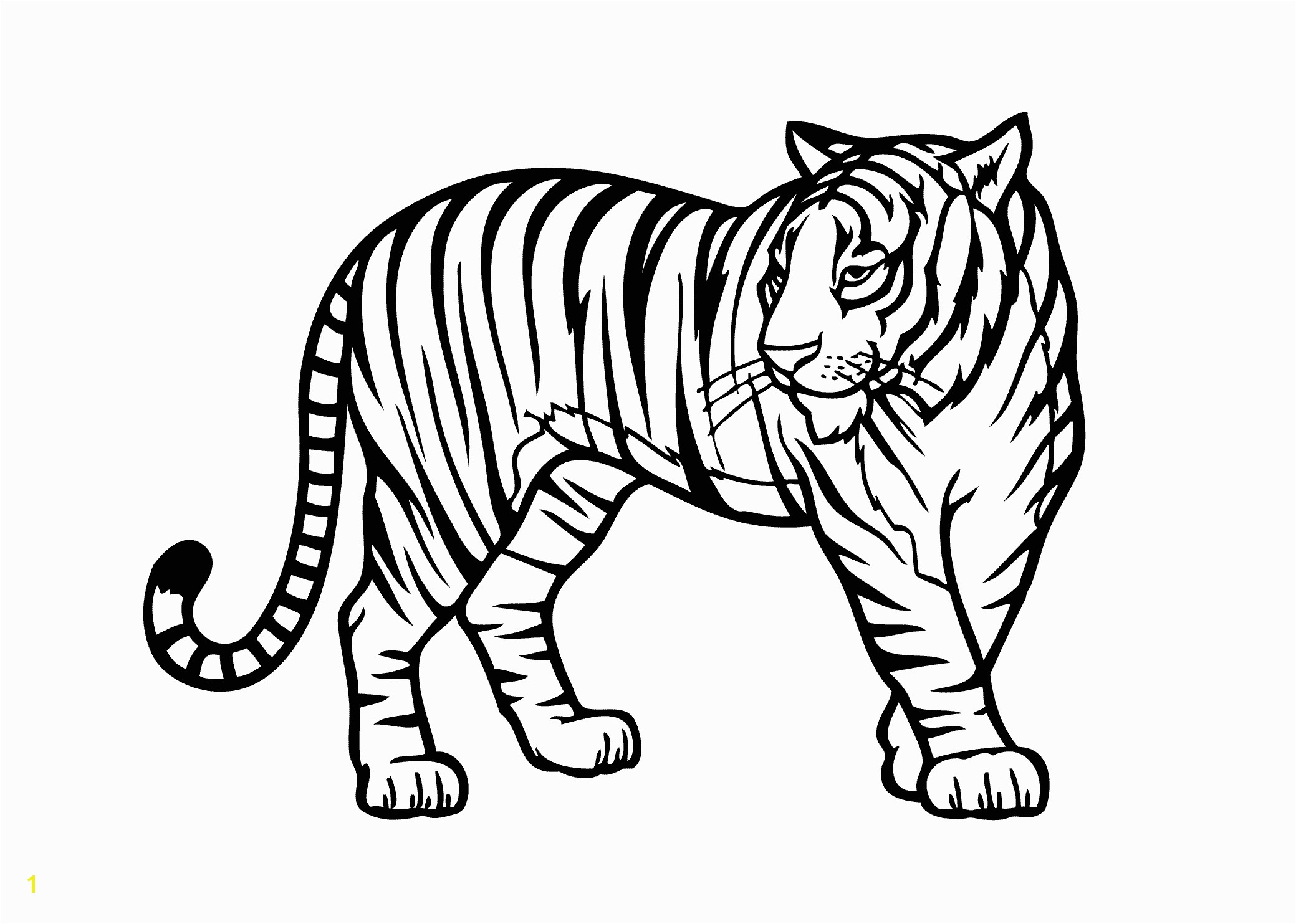 Wild Animals Coloring Pages Pdf Tiger Wild Animals Coloring Pages for Kids Printable Free