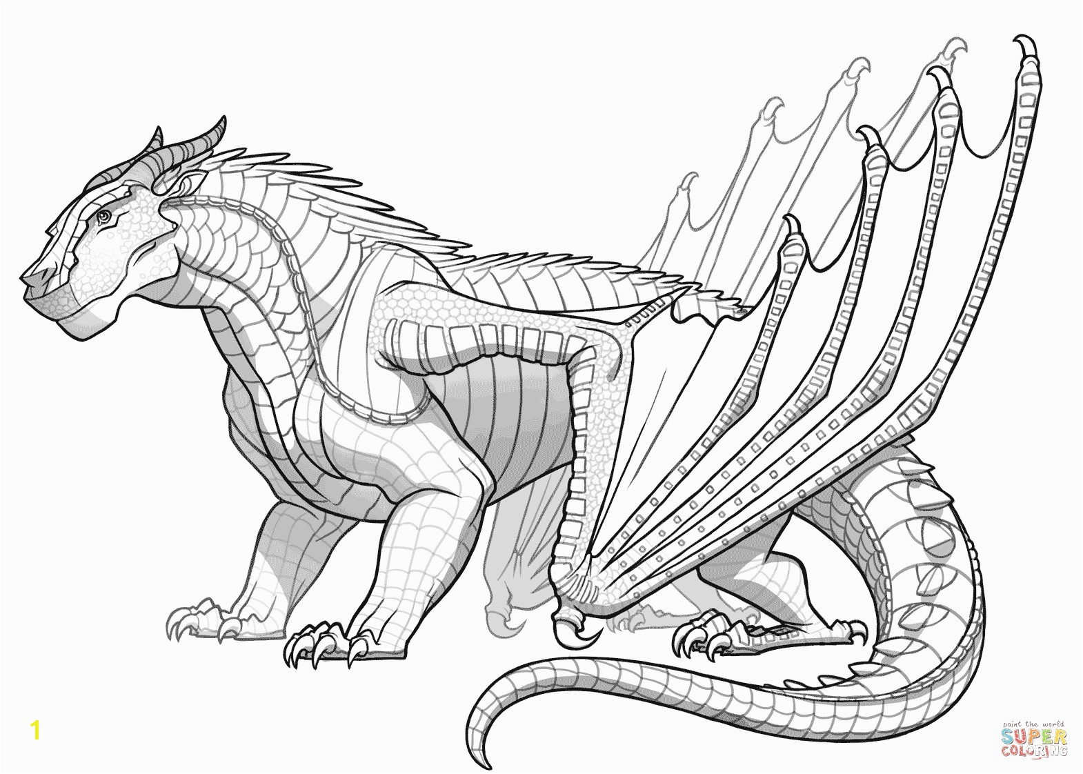 Mudwing Dragon From Wings Fire Coloring Page 20 Seawing Pages